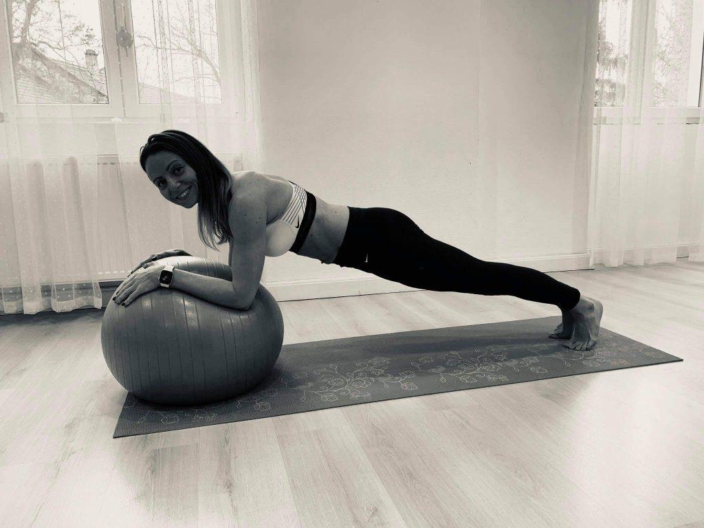 Kiss Veronika edzés közben