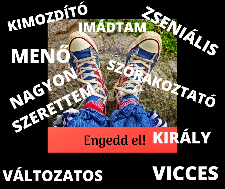 tornacipő, rajta szövegek